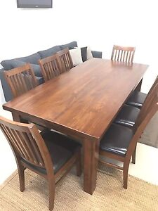 Wooden dining table and chairs Port Augusta West Port Augusta City Preview
