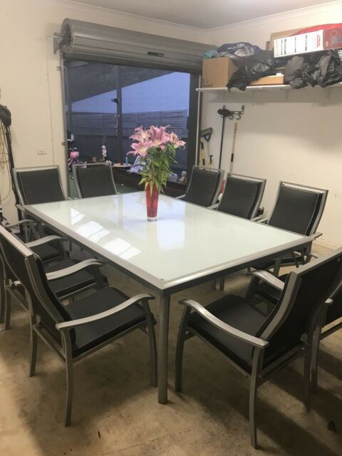 Outdoor Table , 10 Chairs | Outdoor Dining Furniture | Gumtree Australia  Geelong City   Waurn Ponds | 1163271714 Part 59