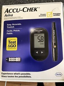 Accu-Chek Aviva blood glucose monitor & strips