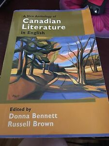 A New Anthology of Canadian Literature