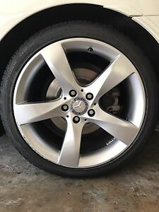 4 x Genuine Mercedes 18inch Wheels & Tyres North Sydney North Sydney Area Preview