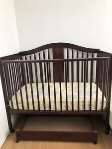 Baby crib and mattress ($100)