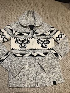 TNA Sweater/Cardigan.  XS.  Black, grey.  Like new!!