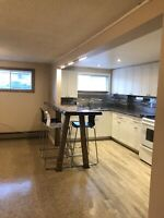 Two bedroom basement apt for rent