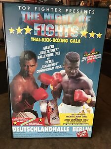 Boxing advertising posters