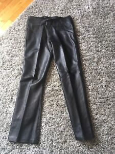 Danier leather chocolate brown and black  - pants  size 4