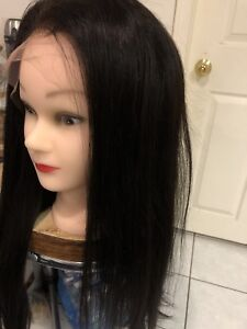"human hair straight full lace wig 20""、22"""