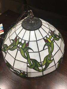 Stain Glass Light Fixture 17 x 10. Fixture is brand new
