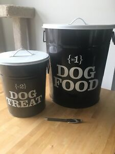 Dog food and dog treat containers