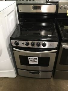 """Brand new"" GE 24"" glass top stainless stove"