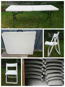 Table and chairs hire Cranbourne Casey Area Preview