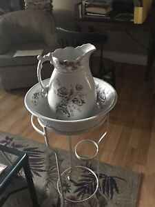 Antique wash stand basin and jug.