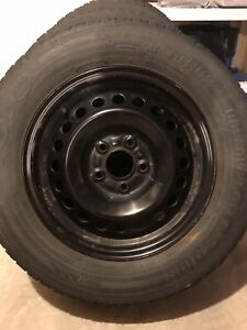 "15"" Black Steel Winter Wheels-Set of 4"