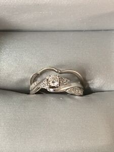 Women's engagement ring set