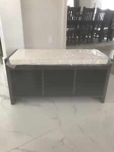 Brand new Entry way Bench with cubicles for shoe storage