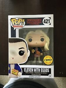 Stranger thing eleven with eggos chase funko pop