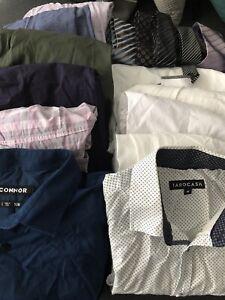 Mixed mens business shirts and ties