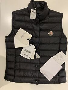Brand new Moncler vest women size 1 (S) in blue/black