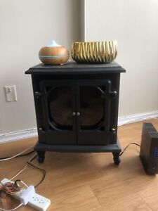 Electric Portable Fireplace w/ Heater