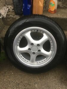 "Set of 15"" rims and tires like new"