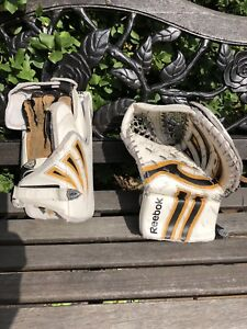 Reebok glove and blocker intermediate.