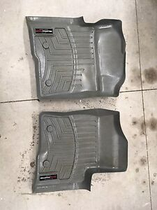 Weathertech floor mats for a 2014 Ford F-150