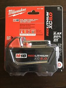 Brand new Milwaukee Fuel M18 5.0 battery