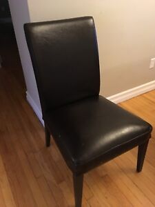 Leather dining room chairs from IKEA