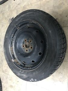Four 205/60R16 Bridgestone Blizzak on steel rims