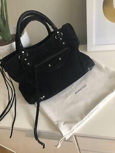7fc3096a0225 Genuine Suede Black BALENCIAGA city bag