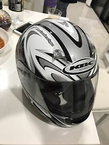 KBC Full Face VR2R Motorbike Helmet Large - In Like New Condition Coomera Gold Coast North Preview