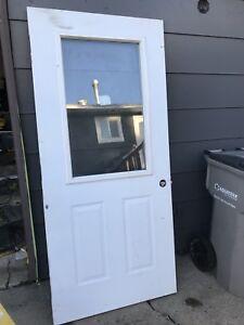 36 inch Steel Door /w Glass