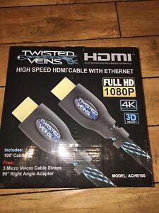 HDMI  100 feet 3D HDTV 1080 p Ethernet cable brand new