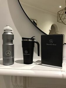 Mercedes Benz drink bottle and black stainless steel thermo coffee mug Yarraville Maribyrnong Area Preview