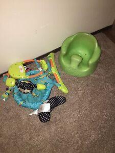 Bumbo chair & door jumper