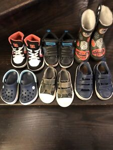Lot of 6 toddler boys shoes