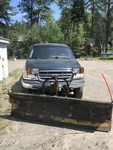 Truck with 4 way Myers Plow for sale