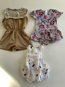 3 designer/ brand name rompers - baby girl size 12-18 months Tarrawanna Wollongong Area Preview