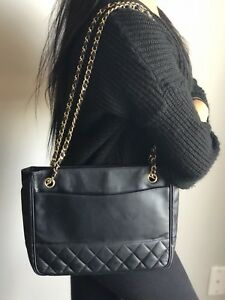 Chanel Vintage Lambskin Tote Very Good Condition $1295