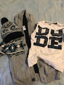 Matching sweater, hat & shirt