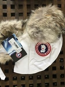 Brand New with Tags Canada Goose Aviator Hat White L/XL