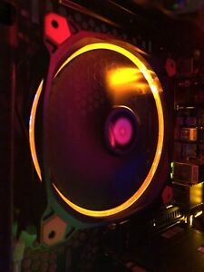 3 Orange Riing 140mm case/radiator fans