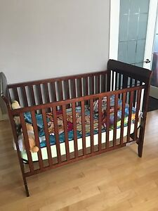 Wooden brown crib excellent condition