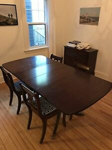 Dining set with 4 chairs and matching sideboard