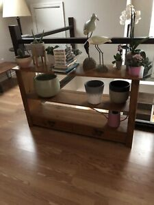 Wood Entry Console Sofa Table Shelving Unit!