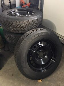 Winter Tires on Steel Rims - like new