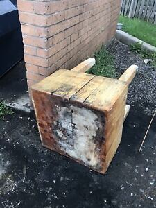 Free solid butcher block.