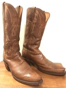 Brown western leather boots