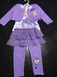 2 Disney 3 piece outfits size 2-t