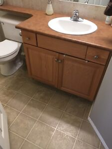 Bathroom vanity and sink and countertop Price Reduced